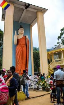 Buddha on foot of Adam's Peak