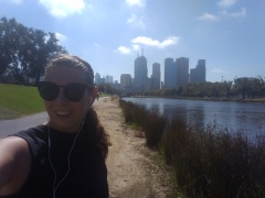 Starting the day with a run in the Royal Botanical Garden