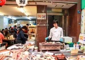 Marktstraße in Osaka